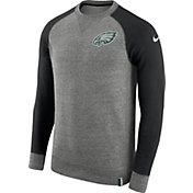 Nike Men's Philadelphia Eagles AW77 Carbon Heather Crew Top