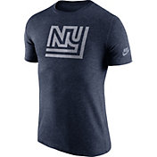 Nike Men's New York Giants Tri-Blend Historic Logo Navy T-Shirt