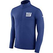Nike Men's New York Giants Element Blue Quarter-Zip Top