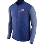 Nike Men's New York Giants Sideline 2017 Coaches Blue Half-Zip Top
