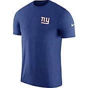 Nike Men's New York Giants Sideline 2017 Coaches Performance Blue T-Shirt