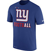 Nike Men's New York Giants Sideline 2017 Legend Football Performance Blue T-Shirt