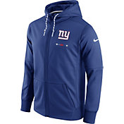 Nike Men's New York Giants Sideline 2017 Therma-FIT Full-Zip Blue Hoodie