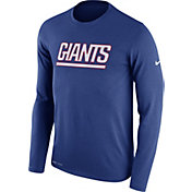 Nike Men's New York Giants Essential Lockup Blue Long Sleeve Shirt
