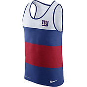 Nike Men's New York Giants Wide Stripe Performance Blue Tank Top