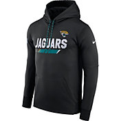 Nike Men's Jacksonville Jaguars Sideline 2017 Therma-FIT Black Performance Hoodie
