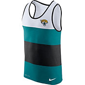 Nike Men's Jacksonville Jaguars Wide Stripe Performance Black Tank Top