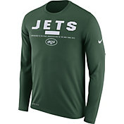 Nike Men's New York Jets Legend Staff Green Long Sleeve Performance Shirt