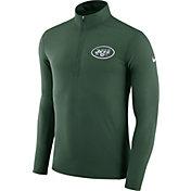 Nike Men's New York Jets Element Green Quarter-Zip Top