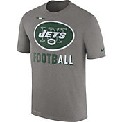 Nike Men's New York Jets Sideline 2017 Legend Football Performance Grey T-Shirt