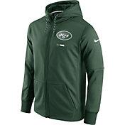 Nike Men's New York Jets Sideline 2017 Therma-FIT Full-Zip Green Hoodie