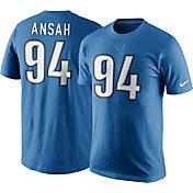 Nike Men's Detroit Lions Ezekiel Ansah #94 Pride Blue T-Shirt