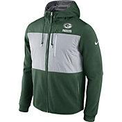 Nike Men's Green Bay Packers Championship Drive 2016 Fleece Green Full-Zip Hoodie