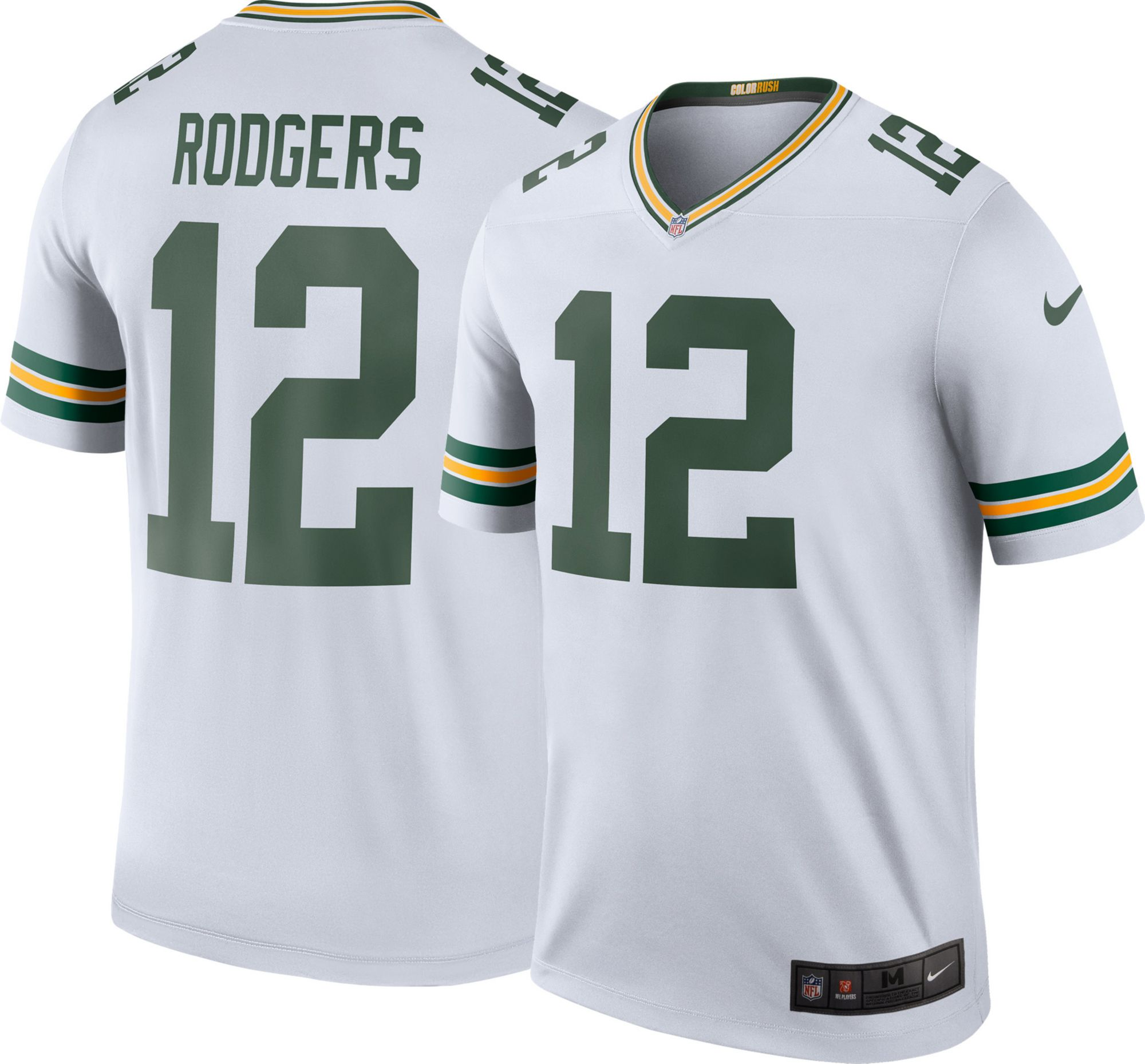 Compare. Product Image � Nike Men\u0027s Color Rush Green Bay Packers Aaron  Rodgers #12 Legend Jersey