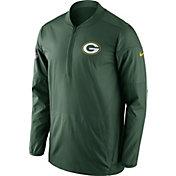 Nike Men's Green Bay Packers Lockdown Green Full-Zip Performance Jacket