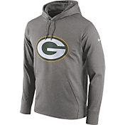 Nike Men's Green Bay Packers Performance Circuit Logo Essential Grey Hoodie
