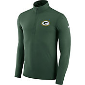 Nike Men's Green Bay Packers Element Green Quarter-Zip Top