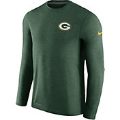 Nike Men's Green Bay Packers Sideline 2017 Coaches Green Long Sleeve Shirt