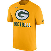 Nike Men's Green Bay Packers Sideline 2017 Legend Football Performance Gold T-Shirt