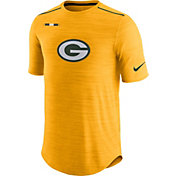 Nike Men's Green Bay Packers Sideline 2017 Player Gold Top