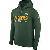 Nike Men's Green Bay Packers Sideline 2017 Therma-FIT Green Performance Hoodie