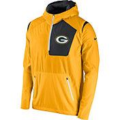 Nike Men's Green Bay Packers Sideline 2016 Vapor Speed Fly Rush Gold Jacket
