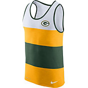 Nike Men's Green Bay Packers Wide Stripe Performance Green Tank Top