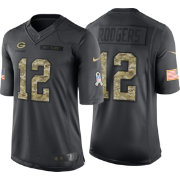 Nike Men's Home Limited Jersey Green Bay Packers Aaron Rodgers #12 Salute to Service 2016