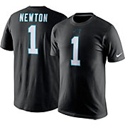 Nike Men's Carolina Panthers Cam Newton #1 Pride Black T-Shirt