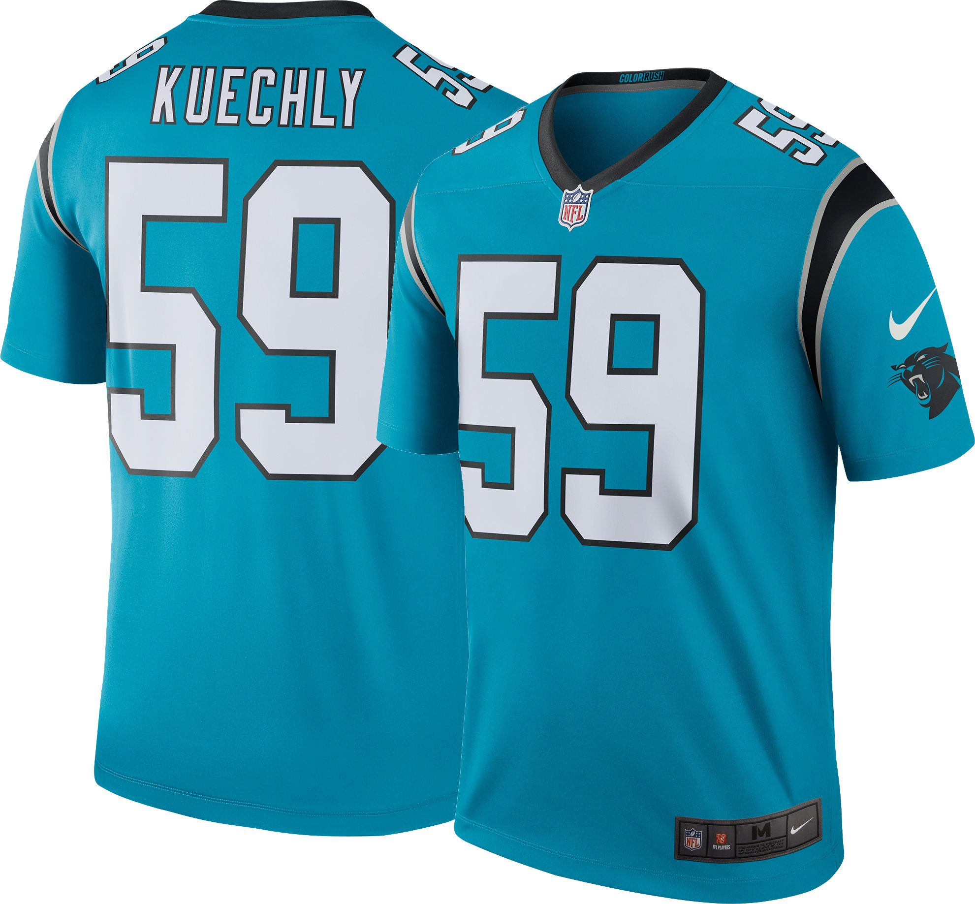 7a9e34b12 ... Adult Home Throwback NFL Jersey Nike Mens Color Rush 2016 Carolina  Panthers Luke Kuechly 59 ...