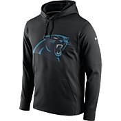 Nike Men's Carolina Panthers Performance Circuit Logo Essential Black Hoodie