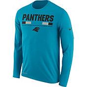 Nike Men's Carolina Panthers Legend Staff Blue Long Sleeve Shirt