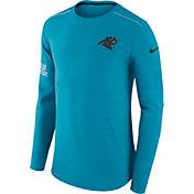 Nike Men's Carolina Panthers Player Performance Blue Long Sleeve Shirt