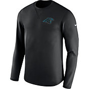 Nike Men's Carolina Panthers Sideline 2017 Modern Crew Black Long Sleeve Top