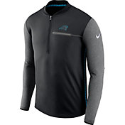Nike Men's Carolina Panthers Sideline 2017 Coaches Black Half-Zip Top