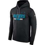 Nike Men's Carolina Panthers Sideline 2017 Therma-FIT Black Performance Hoodie