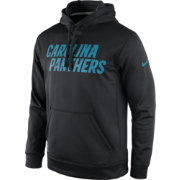 Nike Men's Carolina Panthers Essential Wordmark Black Hoodie