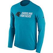 Nike Men's Carolina Panthers Essential Lockup Blue Long Sleeve Shirt