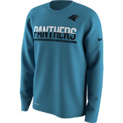 Nike Men's Carolina Panthers Team Practice Performance Blue Long Sleeve Shirt