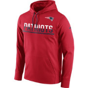 Nike Men's New England Patriots Sideline 2016 Circuit Red Pullover Hoodie