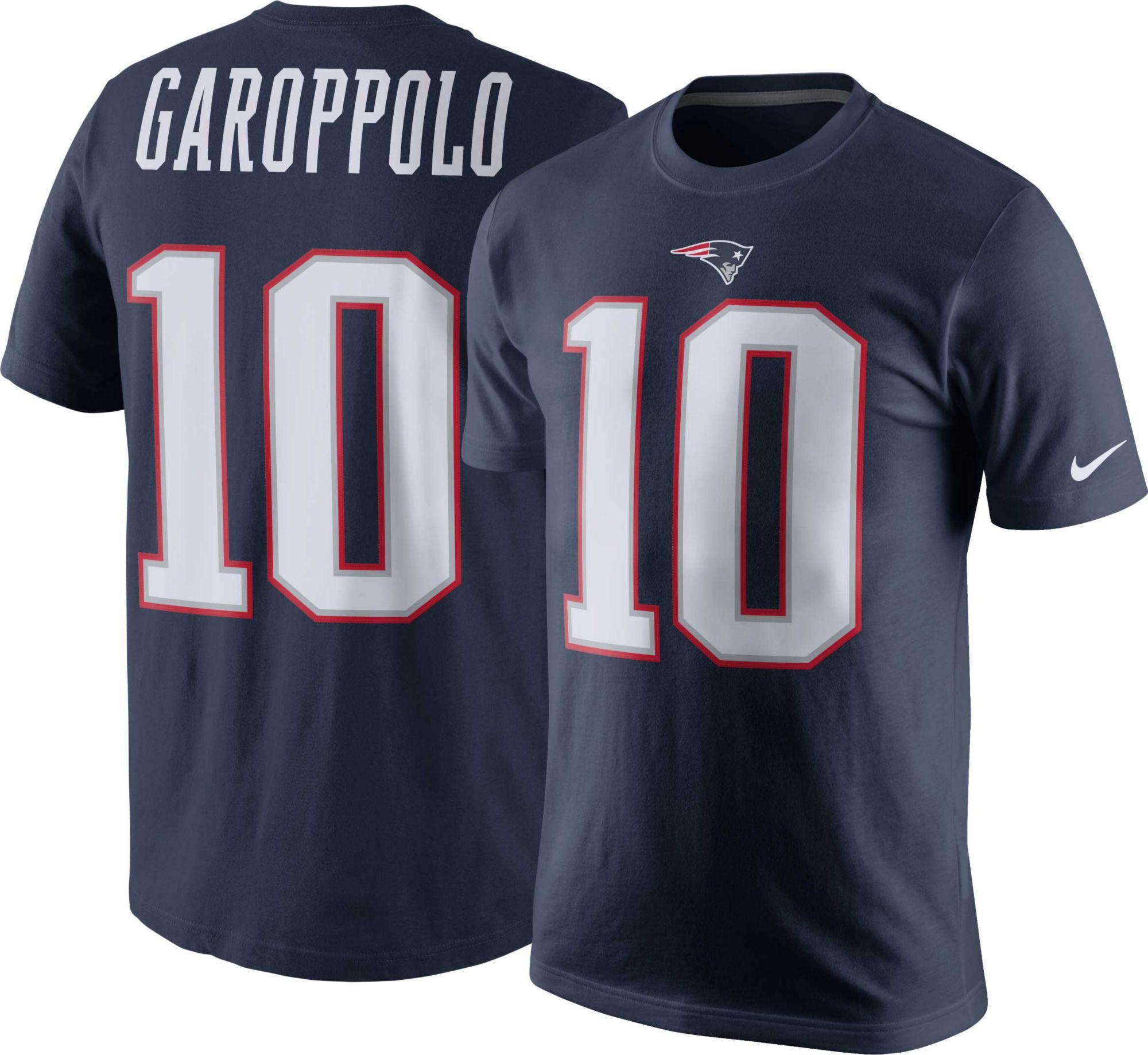 e2586b063 ... Nike Mens New England Patriots Jimmy Garoppolo 10 Pride Navy Jimmy  Garoppolo Home Navy Youth ...
