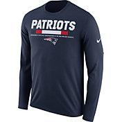 Nike Men's New England Patriots Legend Staff Navy Long Sleeve Performance Shirt