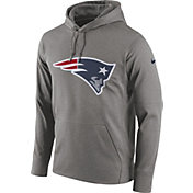 Nike Men's New England Patriots Performance Circuit Logo Essential Grey Hoodie