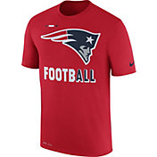 Nike Men's New England Patriots Sideline 2017 Legend Football Performance Red T-Shirt