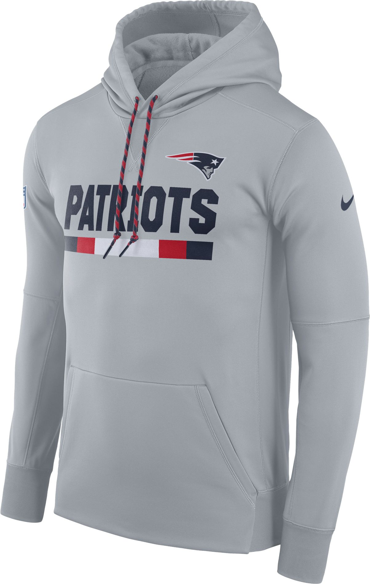 b49b4e388 ... sweden product image nike mens new england patriots sideline 2017  therma fit grey performance hoodie 966ba