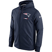 Nike Men's New England Patriots Sideline 2017 Therma-FIT Full-Zip Navy Hoodie