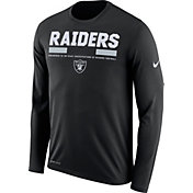 Nike Men's Oakland Raiders Legend Staff Black Long Sleeve Performance Shirt