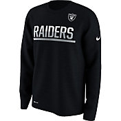 Nike Men's Oakland Raiders Team Practice Performance Black Long Sleeve Shirt