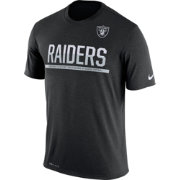 Nike Men's Oakland Raiders Practice Black T-Shirt