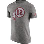 Nike Men's Washington Redskins Tri-Blend Historic Logo Grey T-Shirt